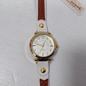 フィールドワーク 腕時計 18032010 白 / ホワイト × 茶 / ブラウン Field work
