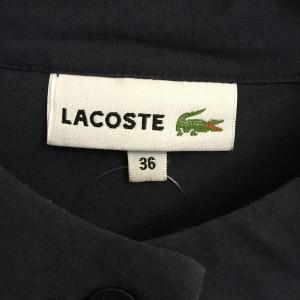 ラコステ 半袖シャツ A4805 紺 / ネイビー LACOSTE 無地 レーヨン、綿 コットン