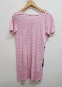 ヒステリックグラマー 半袖 Tシャツ ワンピース プリント 星柄 FREE 542692 桃 / ピンク HYSTERIC GLAMOUR 星柄