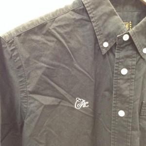 キャリー 半袖ボタンダウンシャツ 18042007 黒 / ブラック CALEE