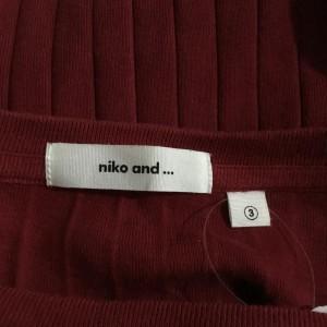 ニコアンド 長袖カットソー B0531 赤 / レッド niko and... 無地 綿 コットン