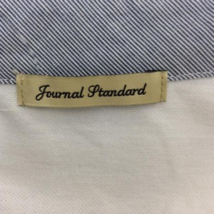 ジャーナルスタンダード 長袖ポロシャツ 2018061113 白 / ホワイト JOURNALSTANDARD 無地