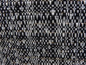 通年物ジャケット [東洲斎写楽] 白黒 金糸入りモール調ストライプ [AB体]仕様 ベーシック2釦 メンズ ブランド SKJ20