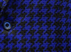 通年物ジャケット [東洲斎写楽] ロイヤルブルー系 千鳥格子 [AB体]仕様 ベーシック2釦 メンズ ブランド SKJ00