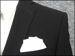 夏礼服 シングルスタイリッシュ スマートフォーマルスーツ 超黒 2釦 ノータック [YA体][A体] サマーフォーマル GRA-2004