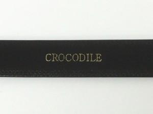 〓天然皮革〓クロコダイル 牛裏 メンズ高級ベルト 黒 日本製 3.5cm巾