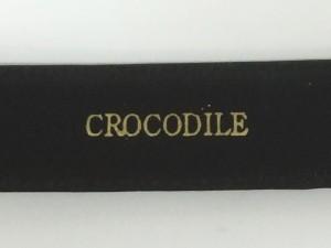 〓天然皮革〓クロコダイル 牛裏 メンズ高級ベルト 黒 日本製 4cm巾 CR2