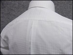FP KOJI YAMAMOTO ワイシャツ 隠しボタンダウン 長袖 白地 千鳥格子 形態安定 ドレスシャツ スリム
