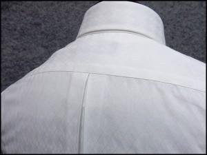 FP KOJI YAMAMOTO ワイシャツ セミショートカラー 長袖 白地 アーガイルチェック 形態安定 ドレスシャツ スリム