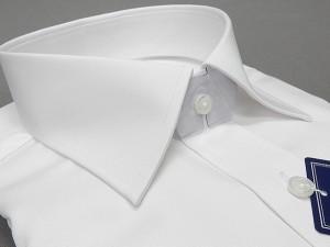 ワイシャツ【超形態安定】 白 綿100%  セミワイド衿 ドレスシャツ [S5L] ORT01