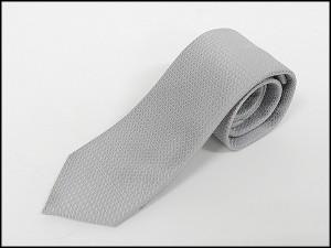訳あり スタイリッシュフォーマルネクタイ 銀鼠系/丸小紋 シルク100% 結婚式・披露宴 メール便可 NF-B10