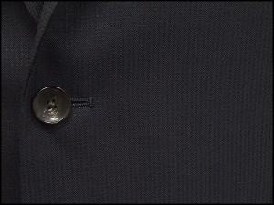 [le samourai homme ALAIN DELON] サムライ スタイリッシュ2釦シングルスーツ 黒紺縞 [Y体][A体]メンズ パーティスーツ