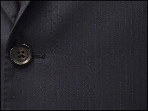 秋冬物 イタリー製生地 [CERRUTI] チェルッティー生地使用 紺縞 ベーシック2釦シングルスーツ 日本製 [AB体] メンズスーツ CER77
