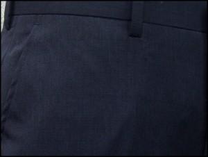 クールビズ 春夏物 スラックス★アダルトノータックパンツ ☆藍紺系☆ 洗濯可 76cm〜94cm T6454B