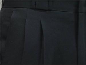 ★2タックパンツ★縦横ライトストレッチ★ループ刺繍☆黒・濃紺・濃グレー T2967 W73〜120cm