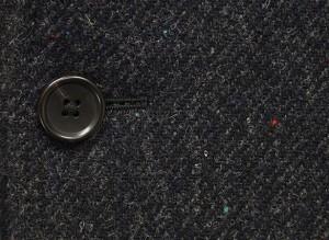 英国生地 [Harris Tweed]ハリスツイード 日本製 チェスターコート 濃鼠系ダイヤゴナル カラーネップ シングル段返り3釦 HTC-J18