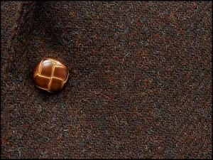 英国生地 [Harris Tweed]ハリスツイード ベーシックジャケット [AB体][BB体] ボルドー茶/ダイヤゴナル シングル2釦 秋冬物 HTJ273