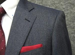 秋冬物 [CERRUTI] チェルッティー Prestige super130s生地使用 ベーシック2釦シングルスーツ 藍系杉綾[AB体][BB体] CER11
