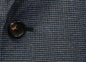 秋冬物 [CERRUTI] チェルッティー Prestige 130s生地使用 スタイリッシュ2釦シングルスーツ 青鼠系千鳥格子[YA体][AB体]CES11