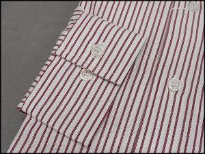 福袋 2枚組【Lasserre】エジプト綿100% ドビー織ストライプ 長袖シャツ LS1000