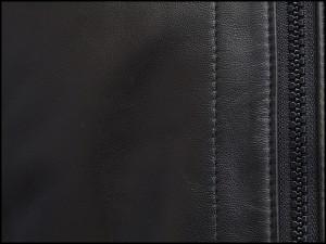 イタリアンレザー ラム革 Vネック ZIPベスト リバーシブル 黒/グレー格子 ジレ メンズ ME56234-BK