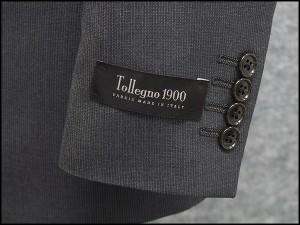 春夏物 イタリー製生地 [Tollegno1900] トレーニョ スタイリッシュ2釦シングルスーツ グレー縞 [Y体][A体][AB体] TL18102