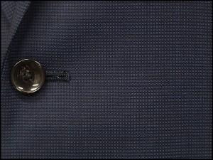 [le samourai homme ALAIN DELON] サムライ スリーピース スタイリッシュ2釦スーツ 紺/マイクロ格子[Y体][AB体]3ピース SMR7266