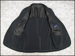 春夏物 ジャケット 黒系格子 ベーシック2釦シングル[A体][AB体]兼用 ストレッチ素材 WZ1605-99