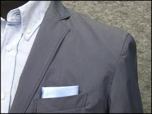 春夏物 スポーツジャケット ブルー系 ダブルステッチ仕様 ベーシック2釦シングル [AB体]用 アダルトジャケット WZ1625-61