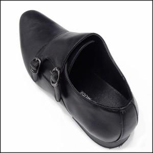ビジネスシューズ  黒 ダブルモンクストラップ 紳士靴 メンズ 合成皮革 革靴/SHM398