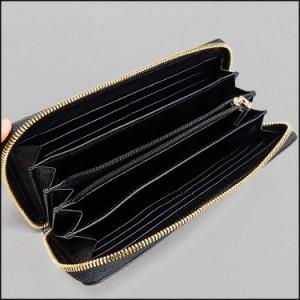 〓天然皮革〓メンズ長財布◆クロコダイル◆黒◆ラウンドファスナー◆ナイルクロコ◆男女兼用◆WL16-BK