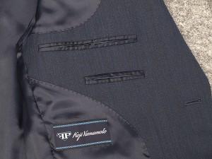 秋冬物 ベーシック2釦シングルスーツ 青藍/ストライプ FP KOJI YAMAMOTO [AB体][BB体]メンズスーツ KJ692