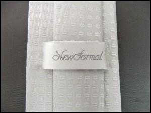 フォーマルネクタイ スタイリッシュタイ 銀系 丸小紋 シルク50% 結婚式 礼装シルバータイ メール便可