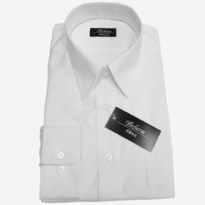 長袖ワイシャツ 白 形態安定 カッターシャツ 就活 BFL30