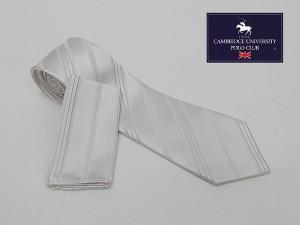 ceb0619f5da74 フォーマルタイ ポケットチーフ付 白銀系 ストライプ シルク100% 結婚式・披露宴 礼装