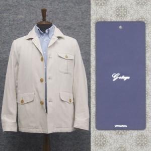 g-stage サファリ風ジャケット 綿麻 白ベージュ メンズ gs190402-WB