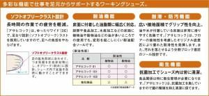 コックシューズ アサヒコック 101 黒 男女兼用 厨房シューズ(kf69222)