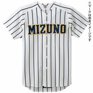 MIZUNO ミズノ  ビクトリーステージメッシュシャツ(オープン型)(野球) ホワイト×ネイビーストライプ(52mw17714)