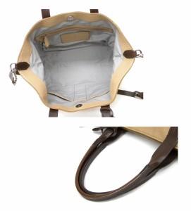 コールハーン COLE HAAN トートバッグ ベージュ×チョコブラウン ショルダー付 型押しレザー(26083)