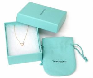 ティファニー TIFFANY&Co. バイザヤードネックレス 2.5g ダイヤ約0.17ct  750PG 全長40cm【中古】(37070)