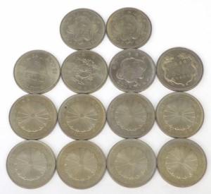 記念貨幣いろいろ 500円白銅貨 7種類 50枚セット 【中古】(38679)