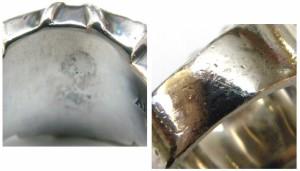 アルズニ ALZUNI 指輪 SVリング クラウン 王冠 ♯15 /シルバー/SV950 総重量17.0g メンズ 【中古】(39187)