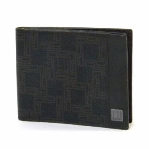 ダンヒル dunhill 二つ折り財布 札&カード入れ ブラウン系 レザー メンズ 【中古】(39259)
