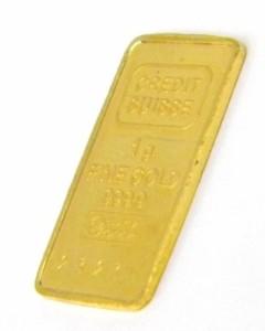 クレディスイス CREDIT SUISSE 純金 ゴールドバー インゴット 24金 ingot /ゴールド/K24 1g 【中古】(40920)