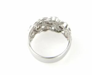 Pt900 指輪 ダイヤリング ダイヤ0.27/0.35ct カラーダイヤ #12 8.6g【中古】(13686)(13686)