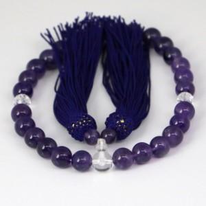 数珠 男女兼用 紫水晶の数珠 アメジスト(ojyuzu-amethyst10)