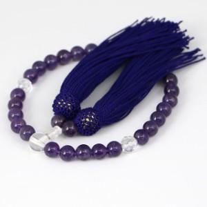 数珠 女性用 紫水晶の数珠 アメジスト(ojyuzu-amethyst8)