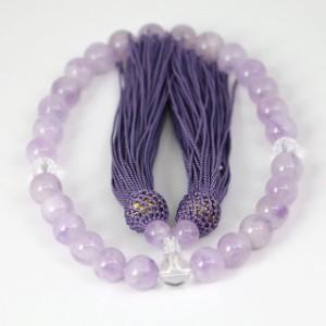 数珠 男女兼用 ラベンダーアメジストの数珠 紫水晶(ojyuzu-lavender10)