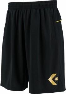 コンバース バスケットボール プラクティスパンツ(ポケット付) 19FW ブラック/ゴールド Tシャツ(cb292810-1953)