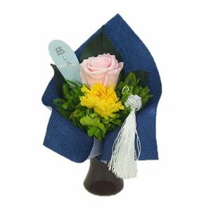 プリザーブド仏花 SBK-02  枯れないお花 水やり不要 バラ アジサイ ブリザーブドフラワー ブリザードフラワー(17-2529-206a)